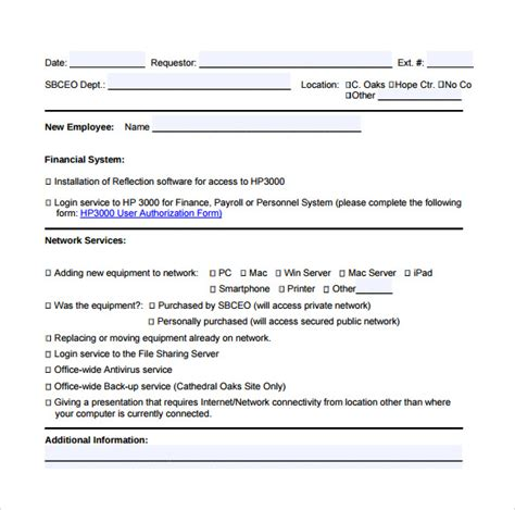 server request form template 13 computer service request form templates to