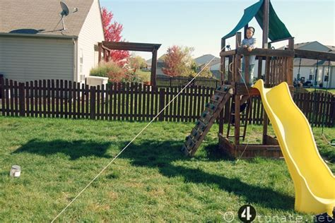 how to build a backyard zip line simple outdoor adventures for boys day 25 make a zip