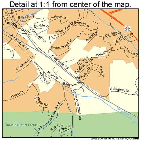 globe az maps globe arizona map 0428030