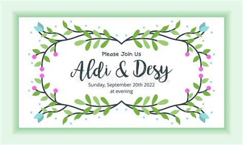 layout   wedding invitation stock vector