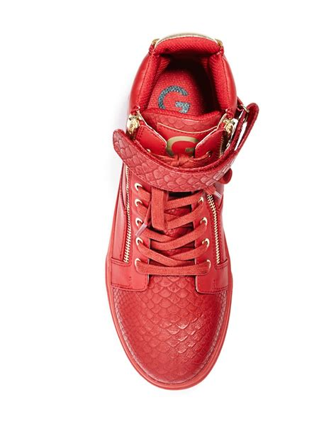 g by guess s zip high top sneakers ebay