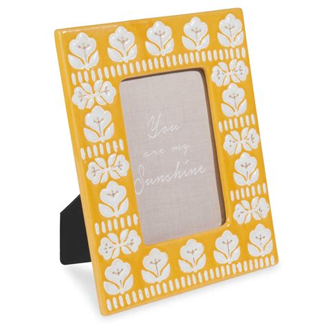 cornici in ceramica cornice fotografica gialla in ceramica 10x15 cm vintage