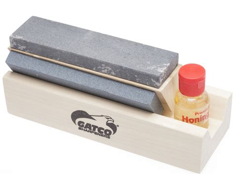 gatco sharpening system gatco arkansas tri hone knife sharpening system
