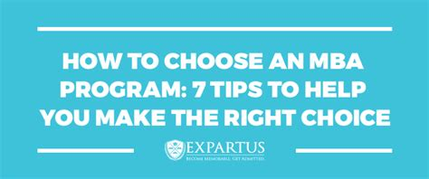 How To Choose A Mba Program mba application process archives expartus