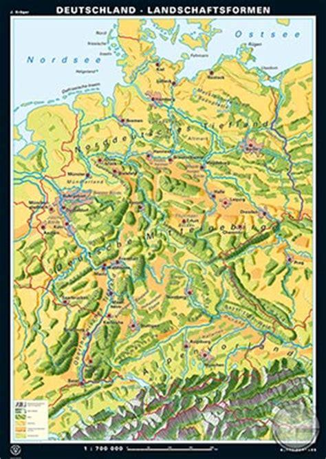 gebirgskarte deutschland deutschland reliefformen landschaftsformen s