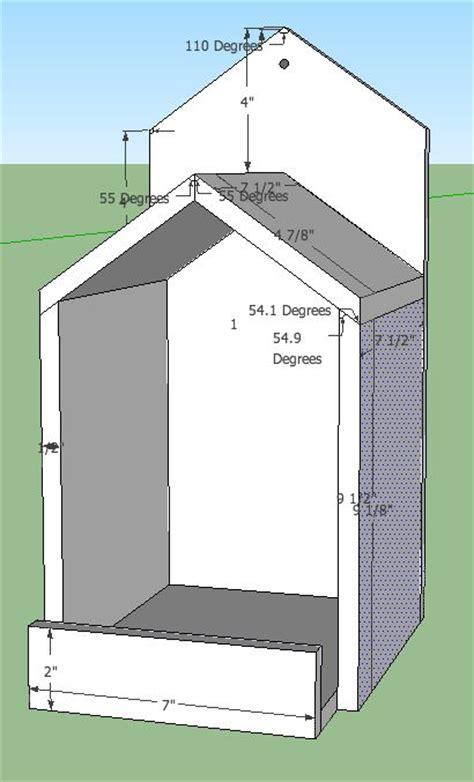 open box robin bird house plans  spoiledbirds yard