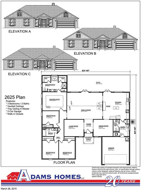 adams home floor plans quality home builders new homes in south branch
