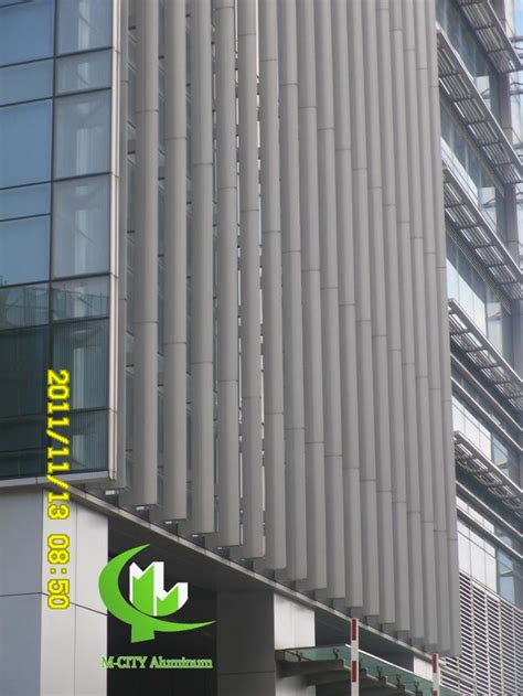 curtain wall louvers powder coated architectural aerofoil profile aluminum