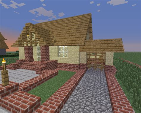 Garage Apartment House Plans by Little House With Garage Minecraft Project