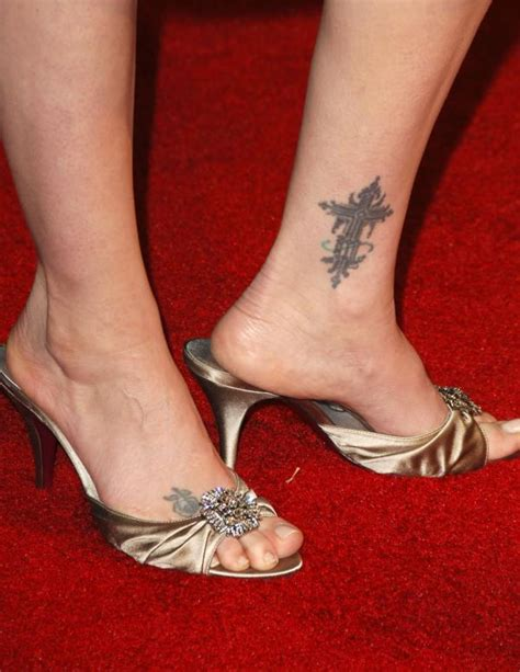 inner foot tattoo virginia madsen inner ankle cross tattooshunt