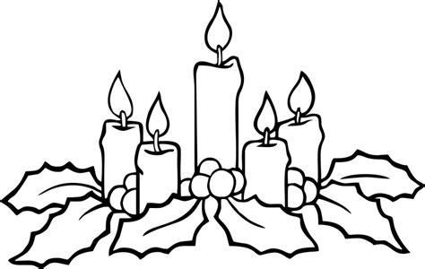 coloring pages of christmas candles christmas candle drawing happy new year 2018