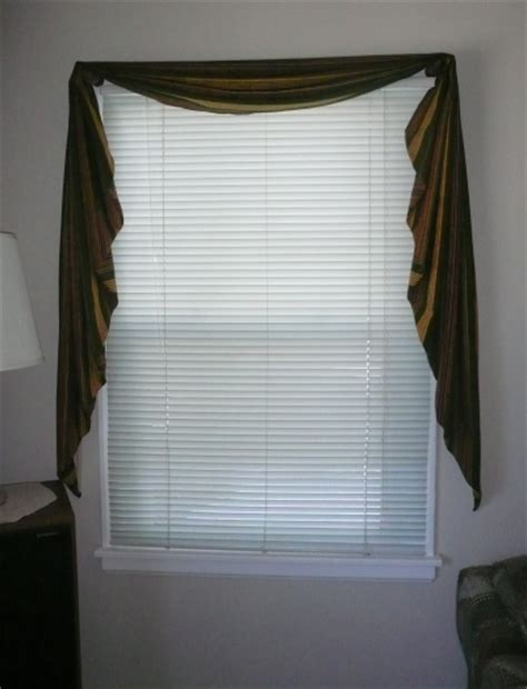 how to make fishtail swag curtains how to make a fishtail valance with pictures wikihow