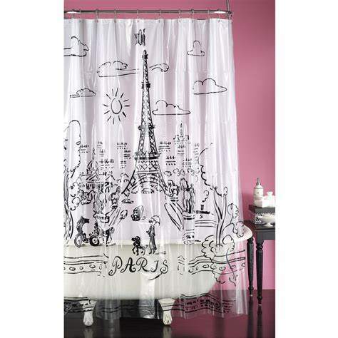 parisian shower curtain paris promenade shower curtain kids pinterest