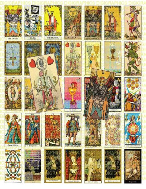 tarot card template for printing 17 best images about digital downloads on