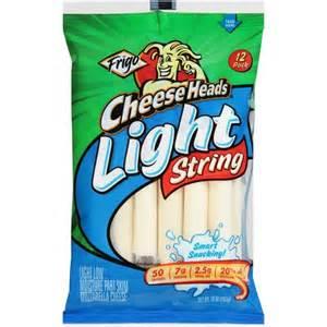 frigo light string cheese frigo cheese heads light mozzarella string cheese 12