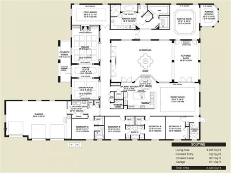 style home plans with courtyard style kitchen floors style home floor