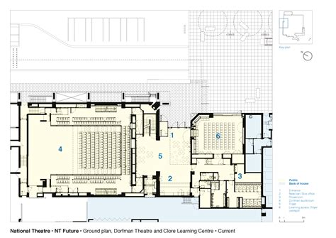 National Theatre Ground Floor Plan Dorfman Theatre | gallery of national theatre haworth tompkins 26