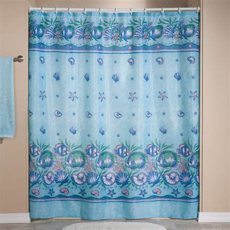 ocean shower curtains oceanic shower curtain