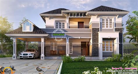 elegant home plans 2450 sq ft elegant home plan kerala home design and