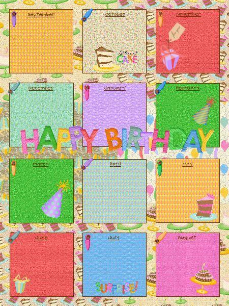 yearly birthday calendar template calendar template 2016