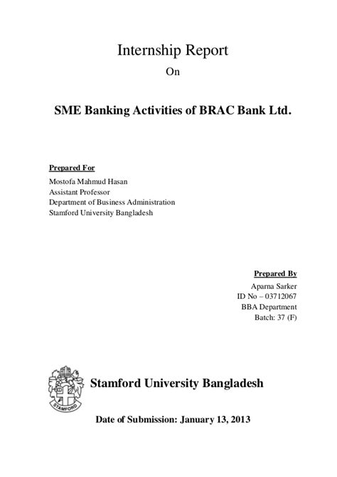 Bank Letter Of Direction Brac Sme Banking Activitis Letter Of Transmittal