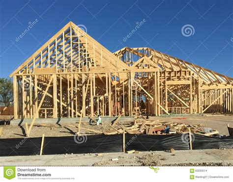 New House Construction Building Stock Photo   Image: 63233514