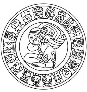 imagenes aztecas mayas dibujo de calendario maya para colorear dibujos para
