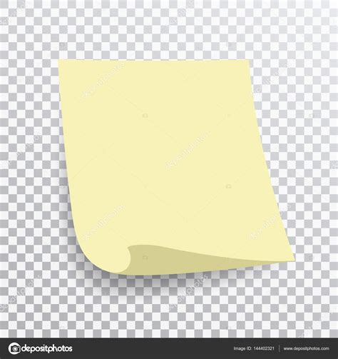 notes transparent background yellow sticky note isolated on transparent background