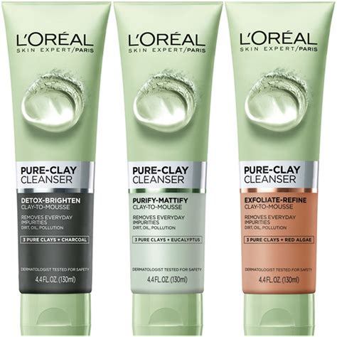 L Oreal Skin Care Clay Cleanser Detox Brighten by L Oreal Clay Masks Are Now Available In A Clay