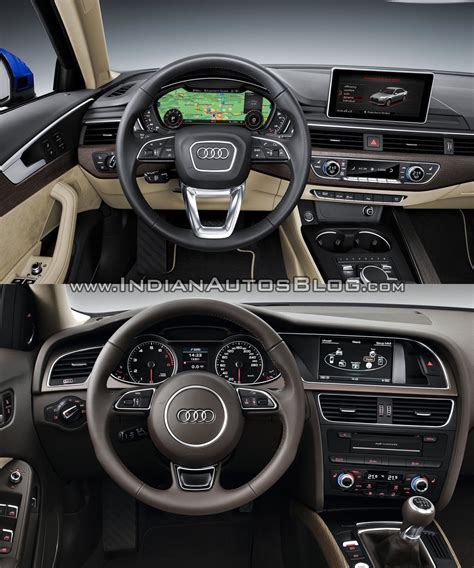 audi a4 2016 interior 2016 audi a4 b9 vs 2013 audi a4 b8 old vs new