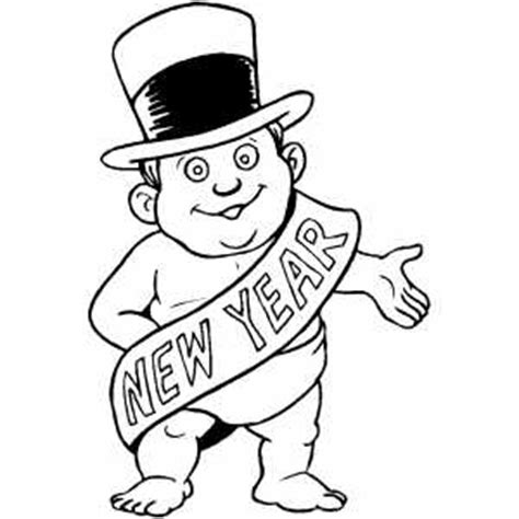 new year hat coloring pages new year baby in hat coloring page