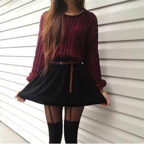 sweater high waist skirt