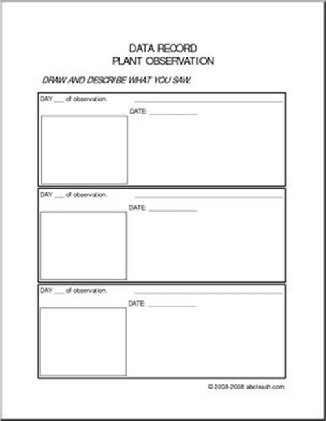 printable plant observation journal 17 best images about pbl spring project on pinterest