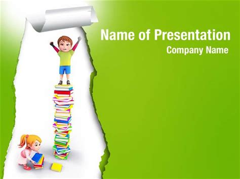 Children S Book Powerpoint Template Child Learning Powerpoint Templates Child Learning Powerpoint Backgrounds Templates For