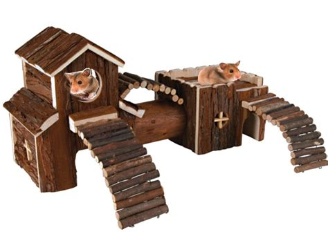 NATURAL WOODEN HAMSTER MOUSE GERBIL PLAYGROUND RATS PETS