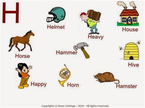 That Start With The Letter H by 17 Best Images About Speech And Language On