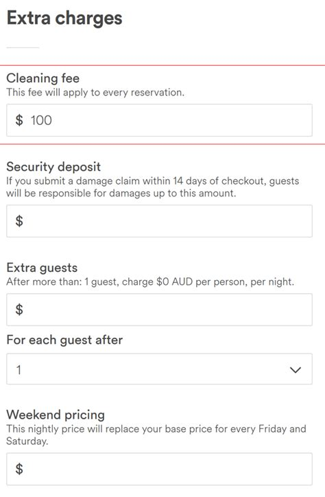 airbnb fees host padlifter cleaning fees how much to charge