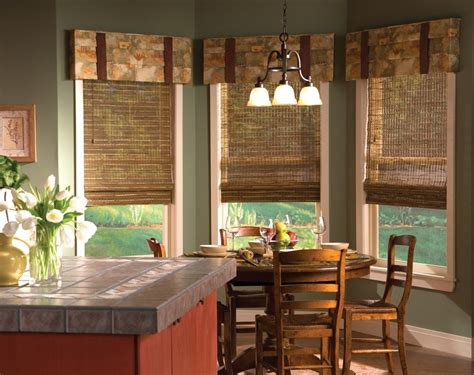 window coverings for kitchen the ideas of kitchen bay window treatments theydesign