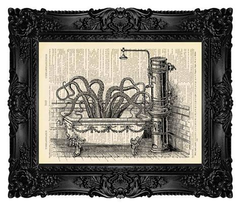 octopus in bathtub bathroom art octopus in victorian bathroom on a vintage