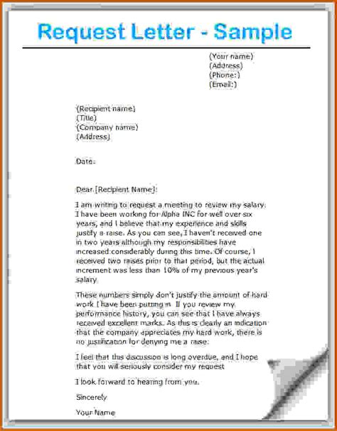 Request To Lease Letter 8 How To Write A Request Lease Template