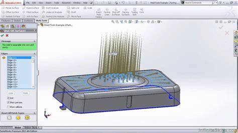 solidworks tutorial mold solidworks mold tools tutorial creating shut off