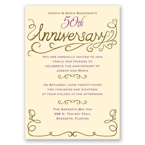 Wedding Anniversary Holidays by Charming Touches Anniversary Invitation Invitations By