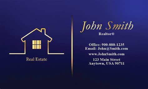 full color real estate business card design 106561