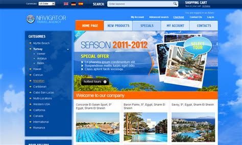 free bootstrap templates for tourism travel agency 2 3 oscommerce id 300110972 from
