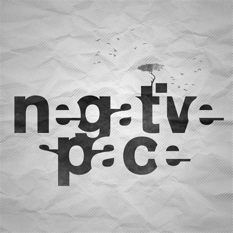typography uses negative space is not negative