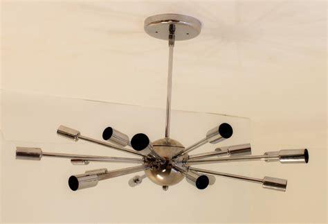 chrome ceiling light fixtures vintage mid century modern chrome sputnik ceiling light
