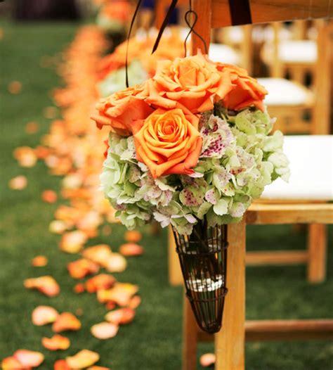 orange green wedding wedding flair