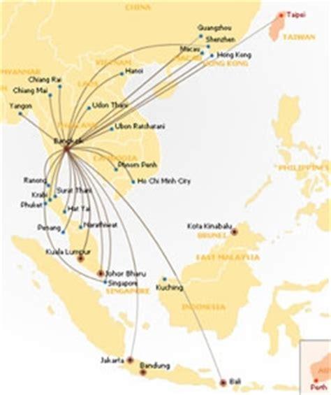 airasia route map thai air asia airline in thailand