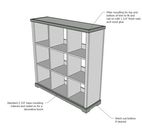 white build a cubby bookshelf large free and