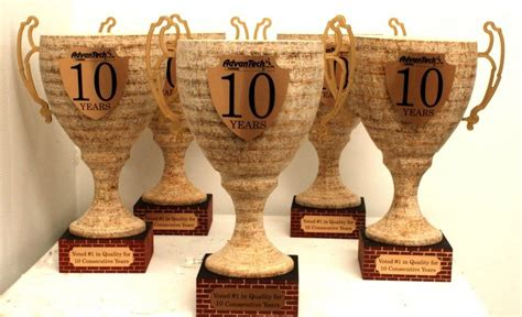 Handmade Trophies - made custom wooden trophy promotional pieces by acme